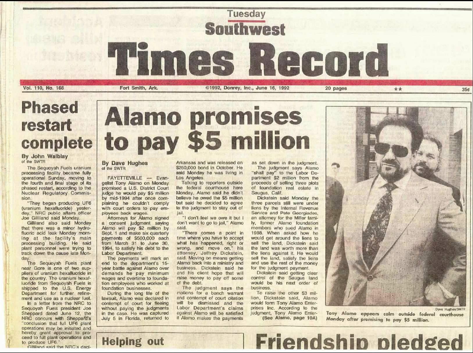 Tony Alamo News » Search Results » tony