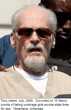 Tony Alamo convicted on 10 felony counts of taking underage girls across state lines for sex. July, 2009.